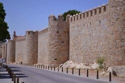 Widoczne z daleka, charakterystyczne mury miejskie