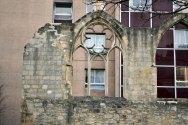 Pozostałości wspomnianego na początku klasztoru klarysek. W tle szpital Broca.