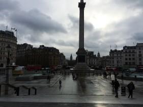Trafalgar Square - ale przede wszystkim to londyńskie niebo!