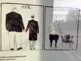 Ostatnie dni wystawy o stosunkach francusko-niemieckich w karykaturze - z okazji 30-lecia spotkania Mitterranda i Kohla. Bilans trzydziestolecia...