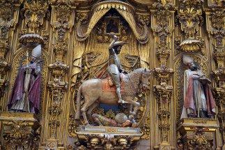 """Ołtarz św. Jakuba: tutaj w przedstawieniu """"Matamoros"""" czyli pogromca Maurów."""