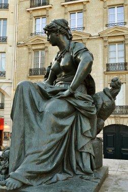 Rzeźby stworzone na wystawę światową w 1878 roku. Personifikacja Ameryki Północnej.
