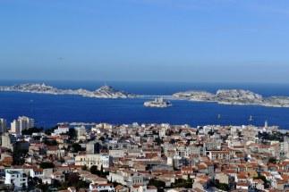 Port, zamek If i wyspy Frioul na horyzoncie