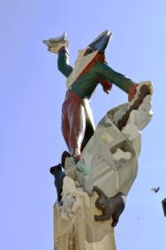 Cadet Roussel - jakobin, bohater prześmiewczej piosenki z czasów rewolucji.
