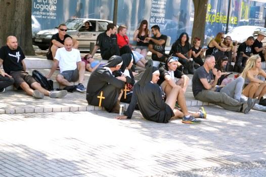 Fani przed koncertem Rammsteina